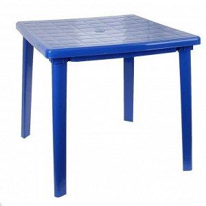 Стол квадратный, размер 80 х 80 х 74 см, цвет синий