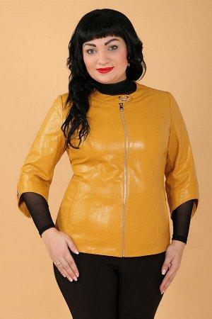 Желтый Примечание: замеры длин соответствуют размеру 52. Длина куртки: 60 см. Длина рукава: 49 см. Подкладка: есть. Застежка: молния спереди, кнопка. Карманы: есть, два функциональных. Декор: металлич