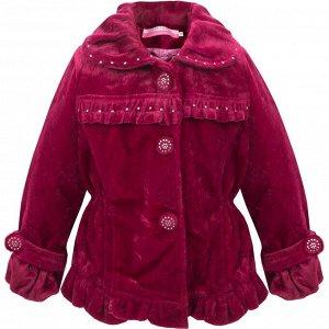 Пальто Bejsha Одри укороченное для девочки бордовый