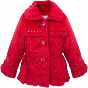 Пальто Bejsha Одри укороченное для девочки красный