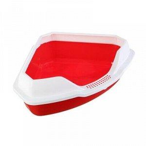 Туалет треугольный 56 x 42 x 17 см, красный