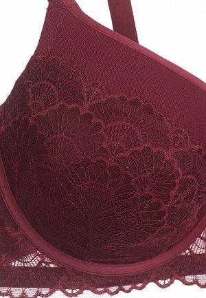 Бюстгальтер пуш-ап Carina, цвет малиновый