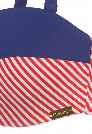 Бюстгальтер балконет для купания Sherry, цвет красно-синий