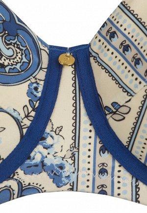 Бюстгальтер для купания особая поддержка Terra, цвет бело-синий