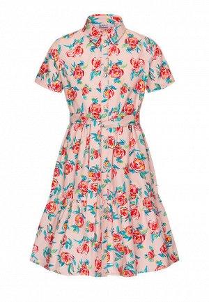 Платье с флоральным принтом для девочки, мультицвет