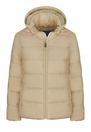 Утепленная стеганая куртка, цвет бежевый