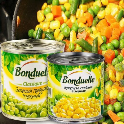 💯 Продуктовая лавка! Изумительный готовый ужин БурятМяс!💯  — Кукуруза и горошек! — Овощные и грибные