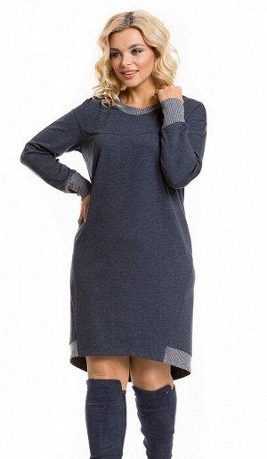 Платье 933 джинсовый