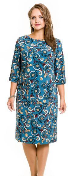 Платье 732 морская волна