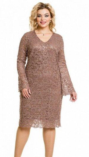 Платье 969 кофейный