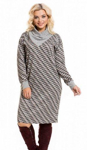 Платье 935 серый