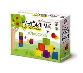 """Кубики деревянные """"Классика"""" 12 шт (5 цв.)"""