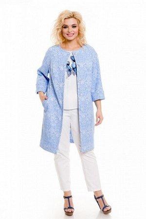 Пальто 753 голубой