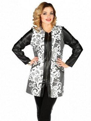 Пальто 446 черно-белый