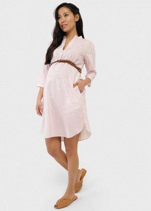 """Платье """"Ника"""" для беременных; цвет: пудровый"""