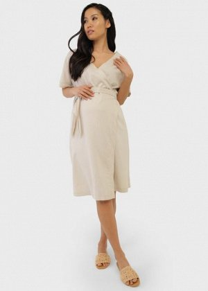 """Платье """"Роксана"""" для беременных и кормящих; цвет: бежевый"""