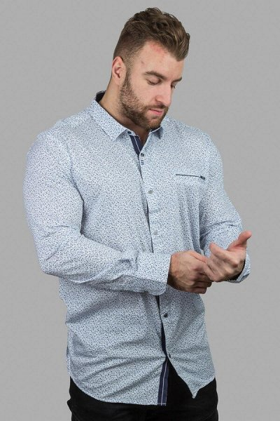 TAMKO-мужская одежда из Турции 19. Много больших размеров — Рубашки длинный рукав — Длинный рукав