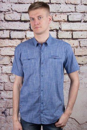 Рубашка 5708 индиго BAGARDA