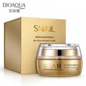 783611 BIOAQUA Snail Увлажняющий восст. крем для лица с фильтратом улиточной слизи, 50г,12 шт/у