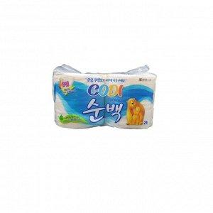 "Особомягкая туалетная бумага ""Codi Pure Deco Soft&Strong"" (трехслойная, с тиснёным рисунком) 30 м *2 рулона"