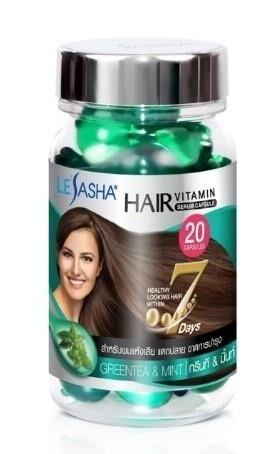 Витамины для волос с экстрактом Зеленого чая и Мяты (20 капсул)