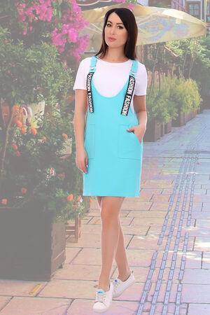 Сарафан Бренд Натали Ткань: футер 2-х нитка Популярная модель сарафана в стиле casual (стиль и практичность), выполнена из трикотажного полотна. Силуэт данной модели свободный О-образный. Длина сарафа
