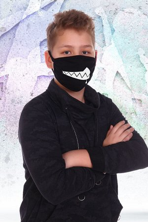 Санитарно-гигиеническая маска немедицинского назначения Зубастик (подростковая)