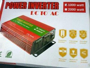 Инвертор Преобразователь. Нужная вещь для тех кому нужна розетка 220 В в автомобиле. Заявленная выходная мощность 1000 Вт
