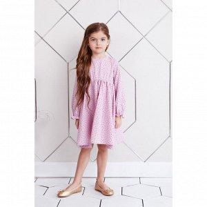 """Платье для девочки KAFTAN """"Мелкий узор"""" р.32 (110-116), розовый"""