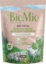 Таблетки д/посудомоечной машины BioMio Bio-Total с маслом эвкалипта, 12 шт.