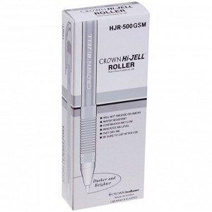 Ручка гелевая Metallic Crown HJR-500GSM, чернила серебро, узел 0.7 мм