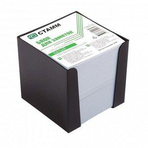 Блок бумаги для записей, 9 x 9 x 9 см, 65 г/м2, в пластиковом боксе, белый