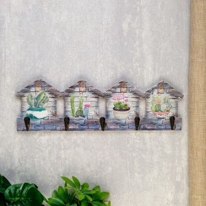"""Крючки декоративные дерево """"Кактусы"""" 11,7х4х38,5 см 4768170"""
