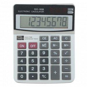 Калькулятор настольный, 8-разрядный, SDC-3808, двойное питание