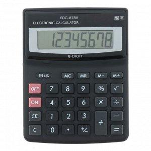Калькулятор настольный, 8-разрядный, SDC-878V, двойное питание