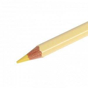 Карандаш акварельный Koh-I-Noor Mondeluz 3720/041, желтый банановый, 175 мм, грифель 3.8 мм, ЦЕНА ЗА 1 ШТ