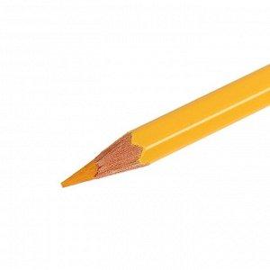 Карандаш акварельный Koh-I-Noor Mondeluz 3720/043, желтый светлый неаполь, 175 мм, грифель 3.8 мм, ЦЕНА ЗА 1 ШТ