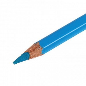 Карандаш акварельный Koh-I-Noor Mondeluz 3720/052, синий тёмно-голубой лёд, 175 мм, грифель 3.8 мм, ЦЕНА ЗА 1 ШТ