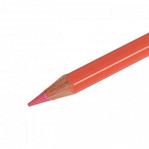 Карандаш акварельный Koh-I-Noor Mondeluz 3720/355, оранжевый персик, 175 мм, грифель 3.8 мм, ЦЕНА ЗА 1 ШТ