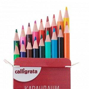 Карандаши 18 цветов, в картонной коробке, заточенные, «Акварельные»