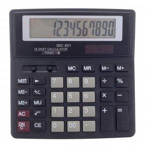 Калькулятор настольный, 12-разрядный, SDC-821, двойное питание