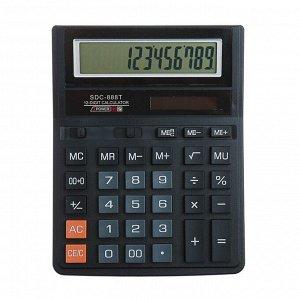 Калькулятор настольный, 12-разрядный, SDC-888T, питание от батарейки-таблетки