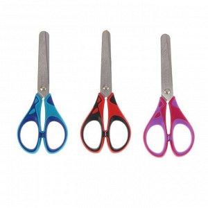 Ножницы детские 13 см, Essentials Soft, симметричные, прорезиненные ручки, дисплей, МИКС