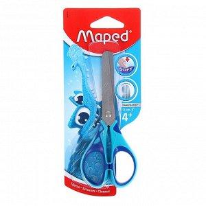 Ножницы детские 13 см, Essentials Soft, симметричные, прорезиненные ручки, МИКС