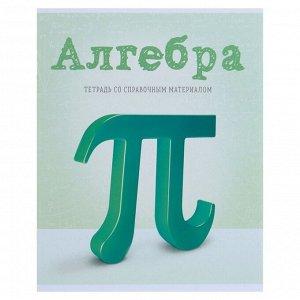 Тетрадь предметная «Предметы», 36 листов в клетку «Алгебра» со справочным материалом, обложка мелованный картон, блок офсет
