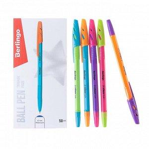 Ручка шариковая Berlingo Tribase Fuze, узел 0.7 мм, чернила синие, микс