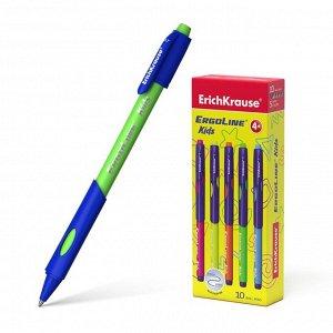 Ручка шариковая Ultra Glide ErgoLine Kids, эргономичный грип, узел 0.7 мм, чернила синие, длина письма 1500 метров, микс