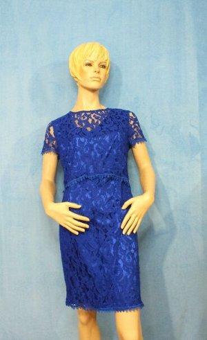 Платье Материал гипюр, на подкладе. 48: ОГ 92см, ОТ 80см, ОБ 90см, длина 91см, 50: ОГ 92см, ОТ 80см, ОБ 92см, длина 92см. Имеет небольшой складской запах, при стирке уходит