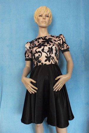 Платье Материал искусственный шелк. Рукава 24 см, Длина 89 см, ОГ 87 см, ОТ 68 см, Имеет небольшой складской запах, при стирке уходит