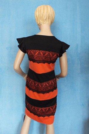 Платье Материал трикотаж. 42: Длина 92 см, ОГ 78 см, ОТ 76 см, ОБ 88 см. 46: Длина 95 см, ОГ 88 см, ОБ 92 см, ОТ 89  см. Имеет небольшой складской запах, при стирке уходит